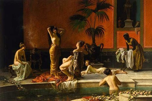An image of Pompeian bath by Niccolò Cecconi