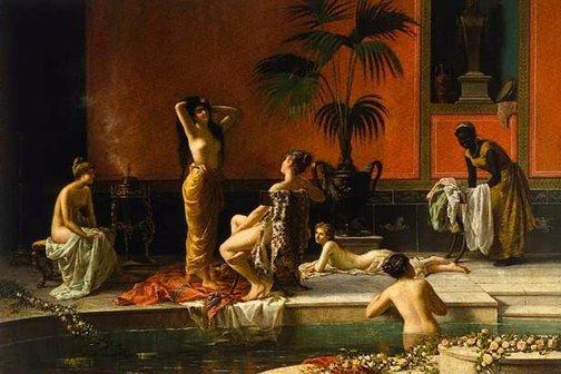 An image of Pompeian bath by Niccolò Cecconi