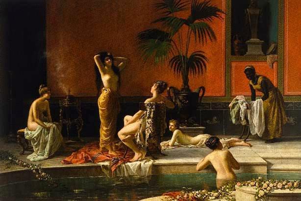 AGNSW collection Niccolò Cecconi Pompeian bath (circa 1890?) 6222