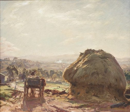 An image of The track to the farm by Hans Heysen