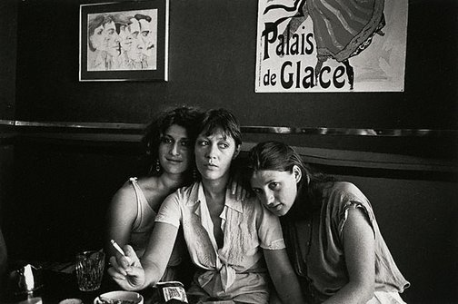 An image of Candy Raymond, Susie Parker and the late Verra Plevnik at Bunnies, Kings Cross by Robert McFarlane