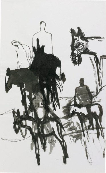 An image of Figures and donkeys (Spain) by Kevin Connor