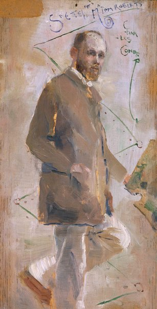 An image of An Impressionist (Tom Roberts) by Charles Conder