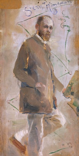 AGNSW collection Charles Conder An Impressionist (Tom Roberts) (circa 1889) 63.1997