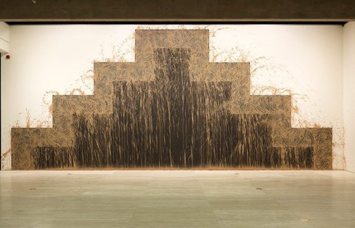 An image of Southern gravity by Sir Richard Long