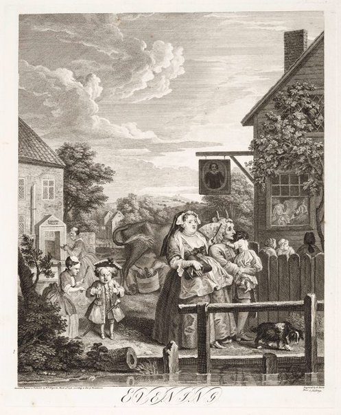 An image of Evening by William Hogarth