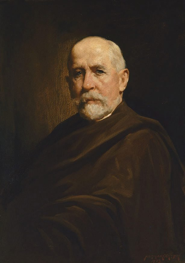 An image of Portrait study (man with cloak)