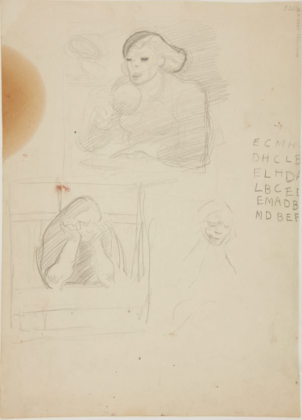 An image of (Studies of women seated) (London genre)