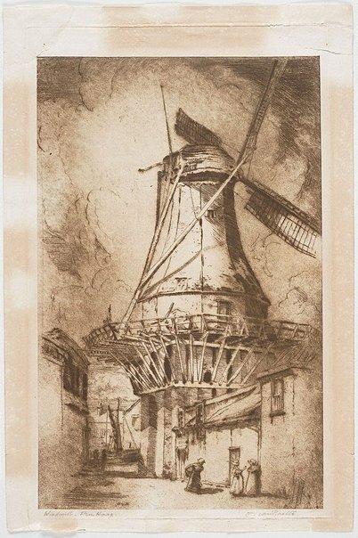 An image of Windmill, The Hague by Henri van Raalte