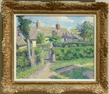 Alternate image of Peasants' houses, Eragny by Camille Pissarro