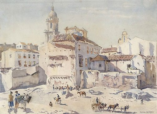 An image of After the revolution, Malaga by Lionel Lindsay