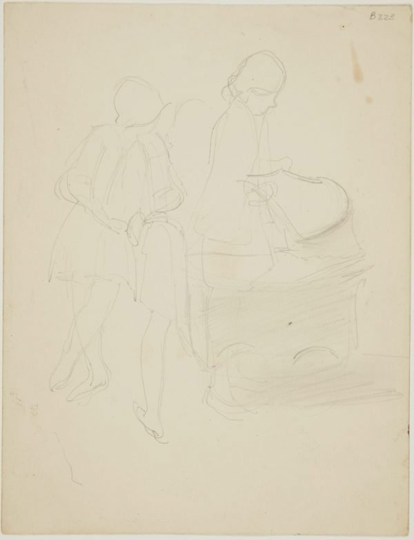 An image of (Study of woman with pram) (London genre)