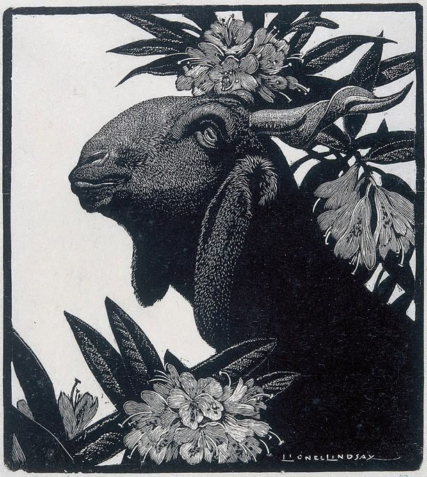 An image of Goat and rhododendron