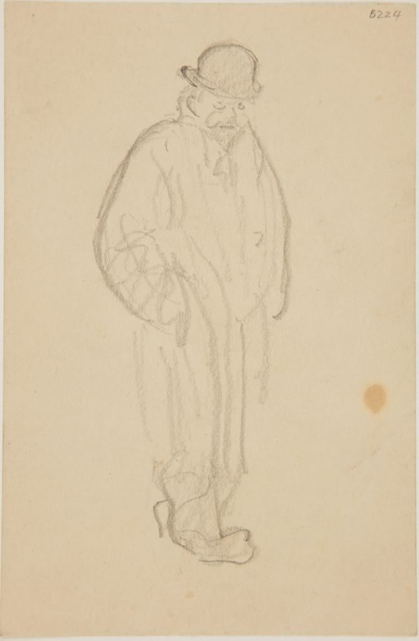 An image of (Man in coat and bowler hat) (London genre)