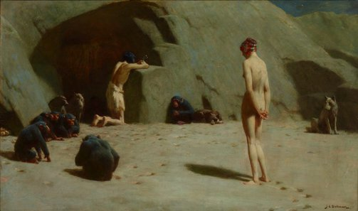 An image of The Temptation of St Anthony by John Charles Dollman