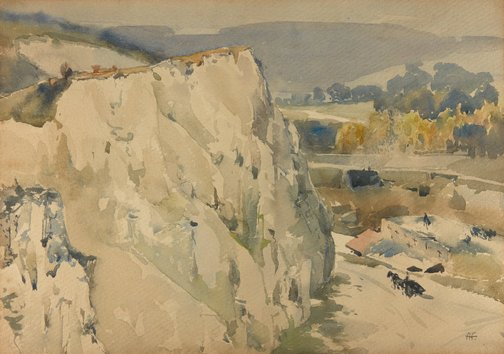 An image of The chalk quarry by A Henry Fullwood