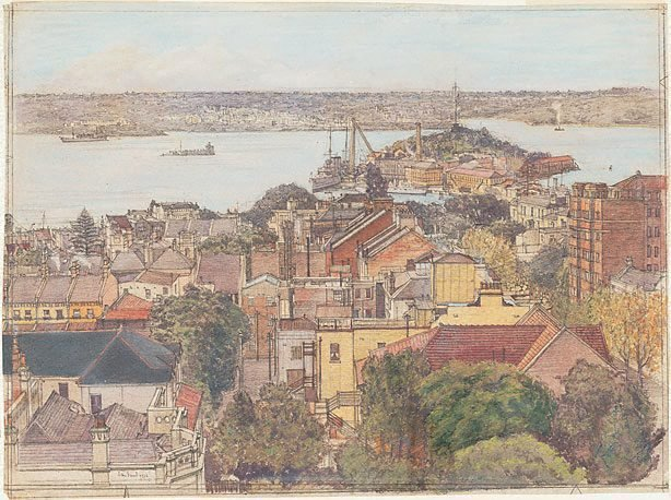 An image of The harbour from Potts Point