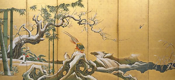Alternate image of Pine, bamboo and plum blossom by Kanō Einō