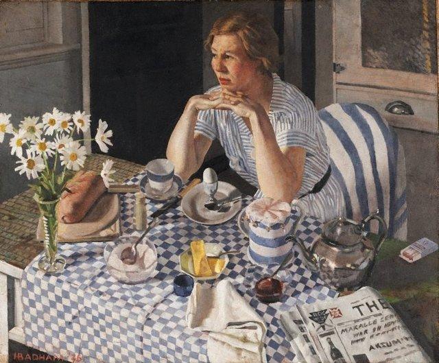 Breakfast piece, (1936) by Herbert Badham