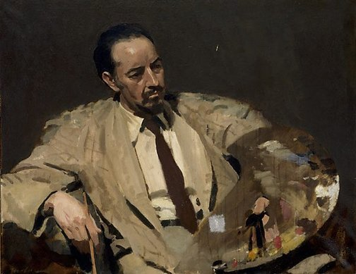 An image of Portrait of John Farmer by Max Meldrum