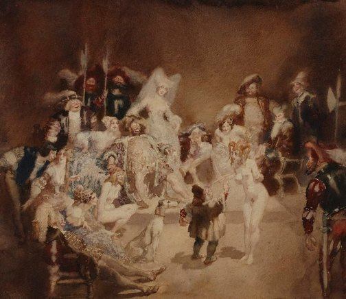 An image of Argument in micomicon by Norman Lindsay