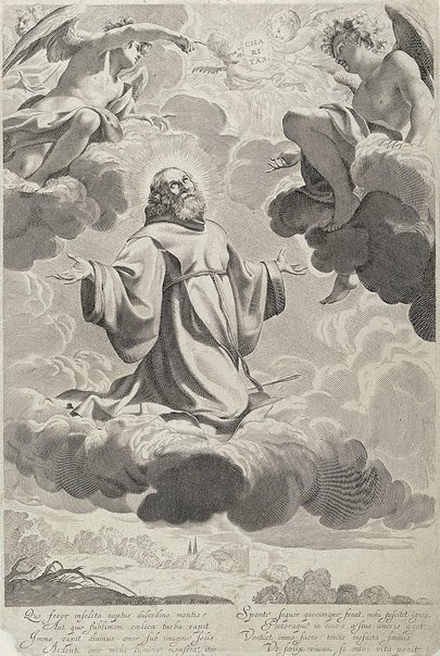 An image of The ecstacy of St Francis of Paola by Claude Mellan