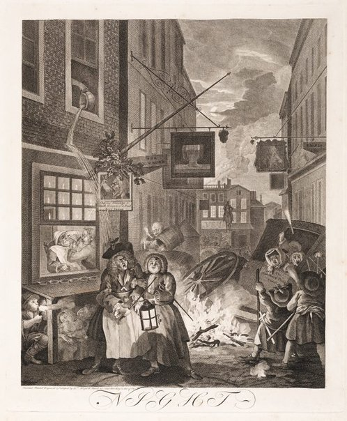 An image of Night by William Hogarth