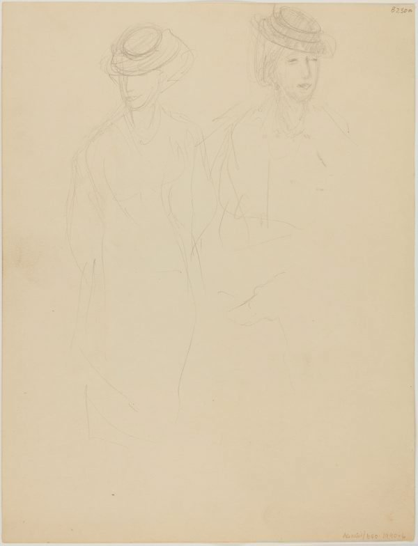 An image of (Studies of woman with hat) (London genre)