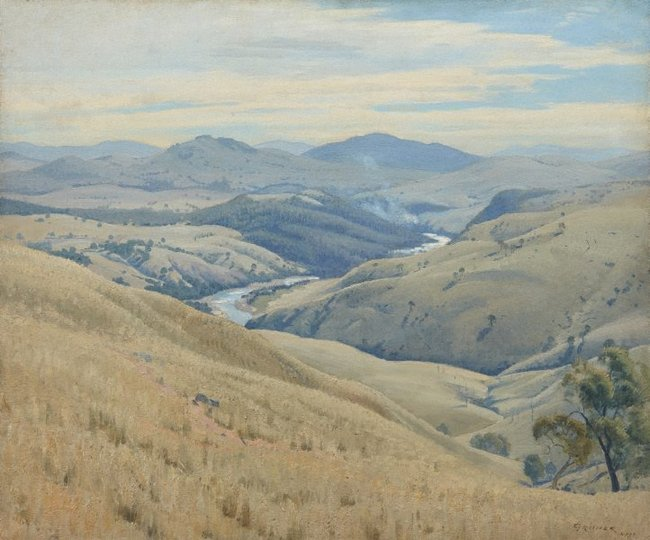 AGNSW collection Elioth Gruner Weetangera, Canberra (1937) 6413