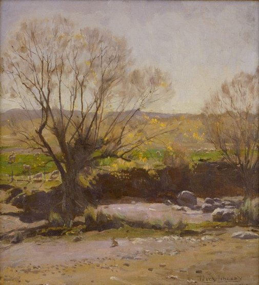 An image of Late afternoon, autumn by Percy Lindsay