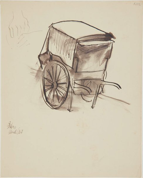 An image of Bakers hand cart (London genre) by William Dobell
