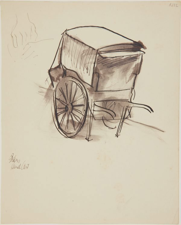 An image of Bakers hand cart (London genre)