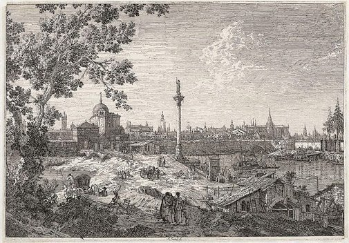 An image of An imaginary view of Padua by Canaletto