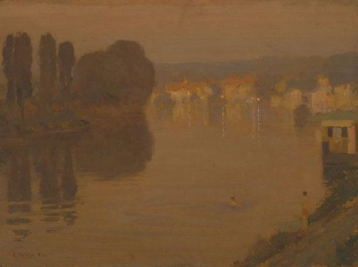 An image of Twilight on the Seine by E Phillips Fox