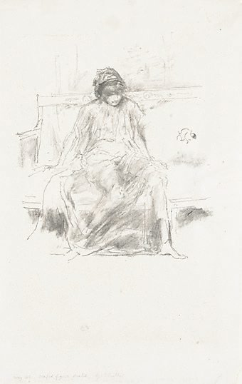 An image of Draped figure seated by James Abbott McNeill Whistler