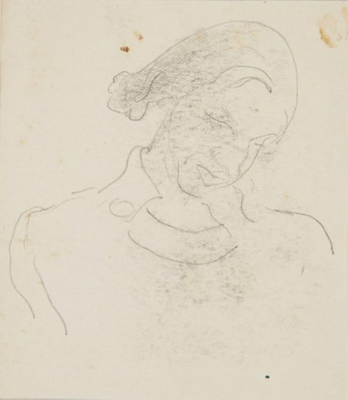 An image of (Study of woman's head) (London genre) by William Dobell