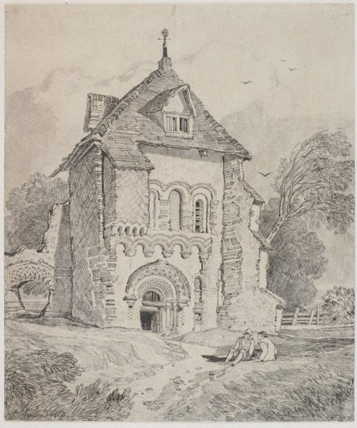 An image of (Near Durham) by John Sell Cotman