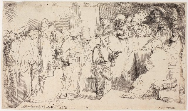 An image of Christ disputing with the doctors: a sketch