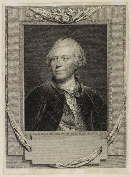 An image of Portrait of J. G. Wille by Johann Gotthard von von Muller, after Jean-Baptiste Greuze