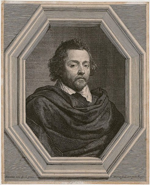 An image of Nicolas Chrystin, bourgeois from Antwerp by Jean Morin, after Sir Anthony van Dyck