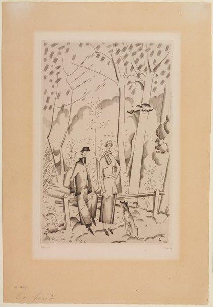 An image of En forêt by Jean Émile Laboureur