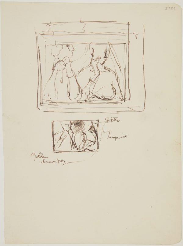 An image of (Women at window) (London genre)