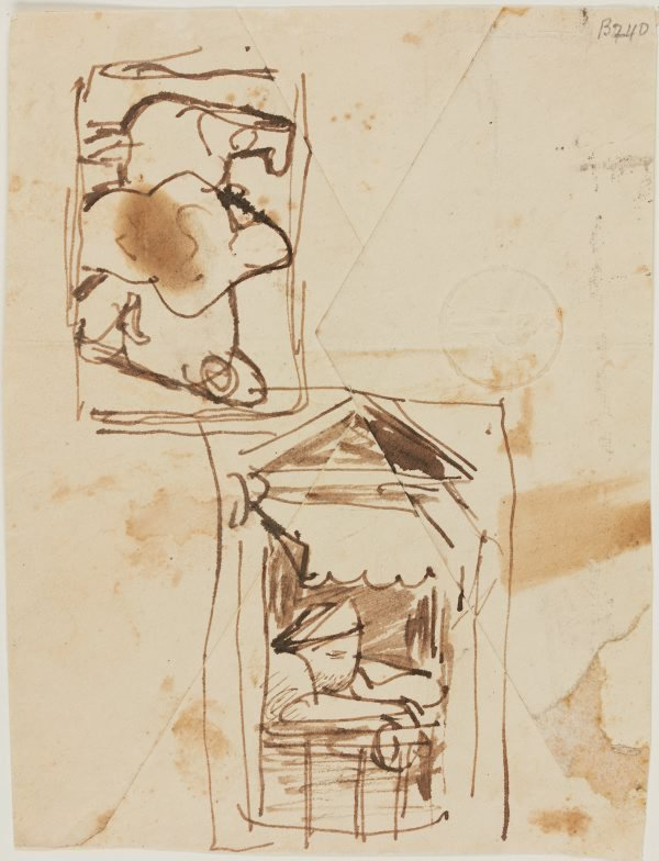 An image of (Figure studies and woman in a window) (London genre)