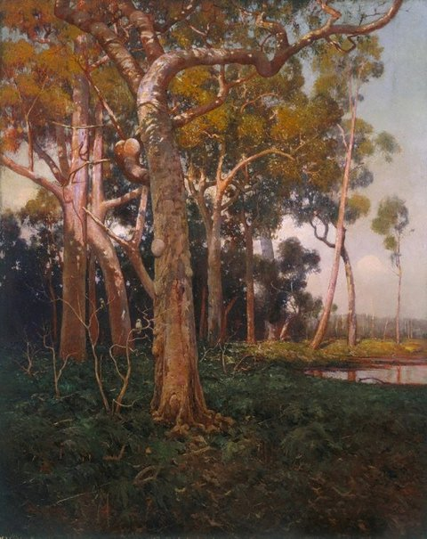 An image of The golden splendour of the bush by W Lister Lister