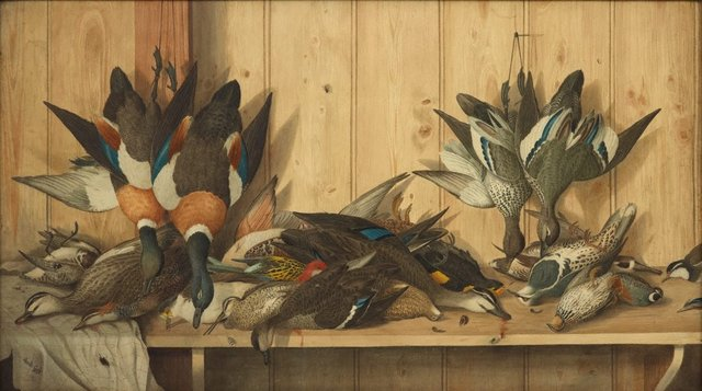 An image of Dead game birds