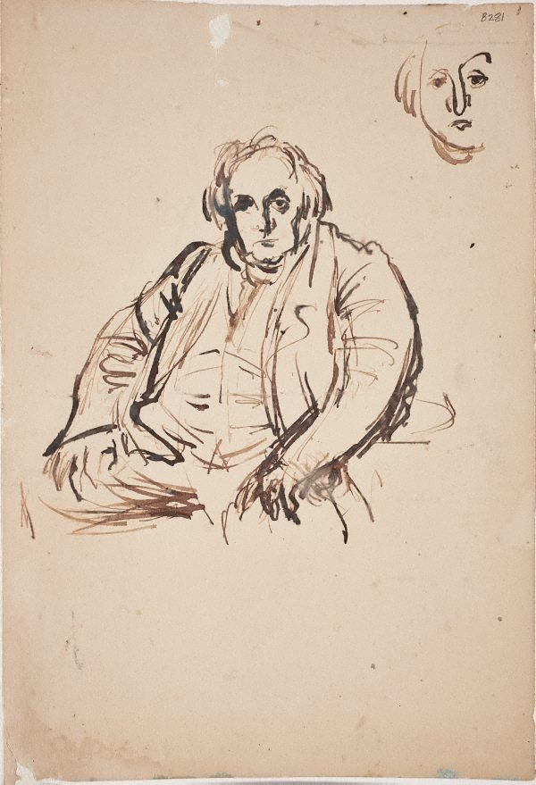 An image of Study after Ingres portrait