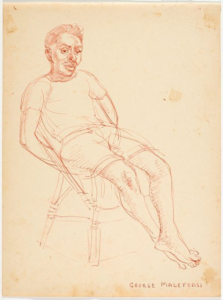 An image of recto:George Malefoasi verso: Allen by Nora Heysen