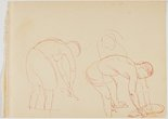 Alternate image of recto: Malee verso: (Study of bending male and female natives) by Nora Heysen