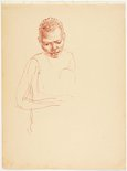 Alternate image of recto: (Study of female native) verso: (Study of mother nursing a child) by Nora Heysen