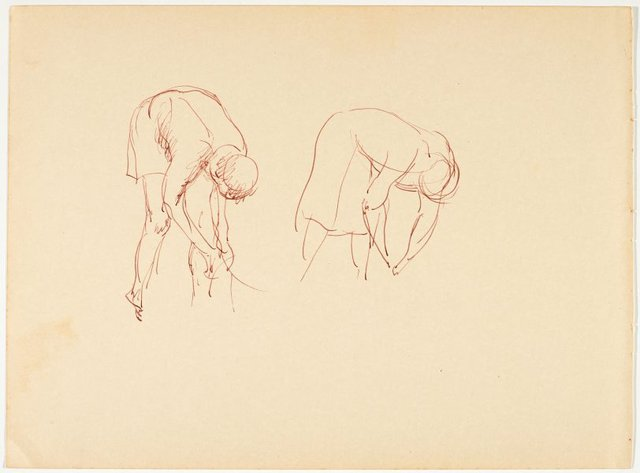 An image of recto: (Bending native figures) verso: (Child study)